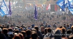 경찰 '국회앞 집회 불법행위' 민주노총 간부 주거지 등 압수수색