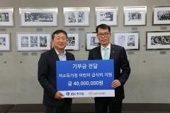 IBK캐피탈, 위스타트에 급식 지원금 4000만원 전달