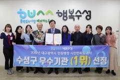 수성구, 2019년도 민원행정 시민만족도 '1위'