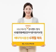 KB손보, 배달업자 이륜차보험 6개월 배타적 사용권 획득