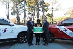 쌍용차,아프리카 가나 '의료기술 지원사업' 차량 기증