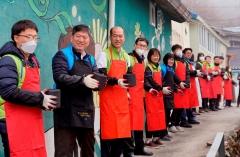 농협금융, 동절기 맞아 홍제동서 연탄 나눔 활동