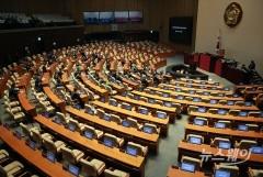 국회, 본회의 일정 지연…문 의장, 여야 3당 원내대표 소집