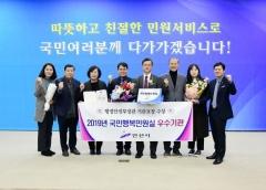 안산시, 행안부 인증 '국민행복민원실' 우수기관 선정