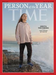 타임, '2019 올해의 인물'로 10대 환경운동가 '그레타 툰베리' 선정