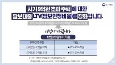 내일(23일)부터 투기지역 9억원 초과주택 대출한도 규제 강화