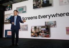 """[CES 2020]한종희 사장의 삼성 8K TV '퀀텀닷 AI' 혁신···""""가정용 마이크로 LED 시대"""""""