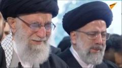이란 최고지도자, 솔레이마니 장례서 '눈물'
