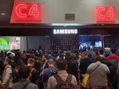 [CES 2020]개막 열기 후끈···길게 늘어선 '삼성전자' 방문 행렬
