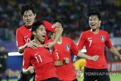 한국 C조 1위, 중국에 1-0 승…이동준 후반 48분 '극장골'