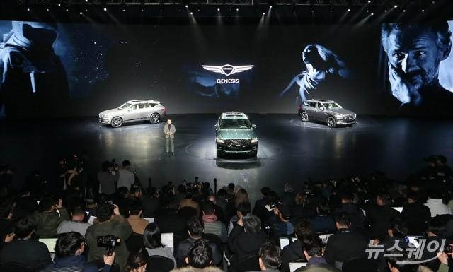 [NW포토]제네시스의 첫 SUV 'GV80' 소개하는 이용우 부사장