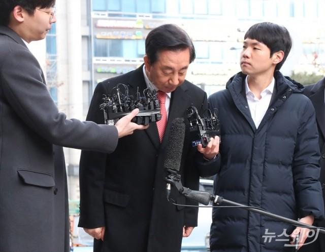[NW포토]고개숙인 김성태 의원