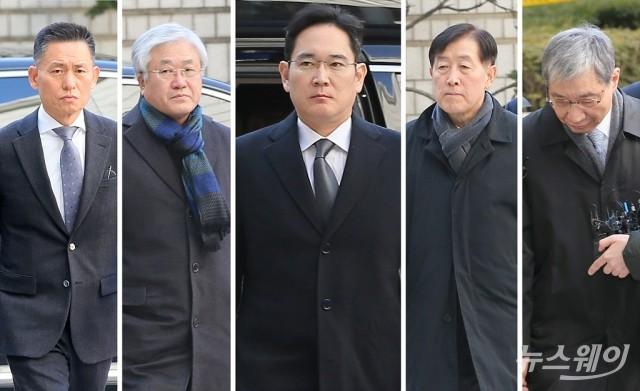 [NW포토]파기환송심 4차 공판 출석하는 '삼성'