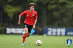 한국vs요르단, 조규성 선제골로 1-0 리드
