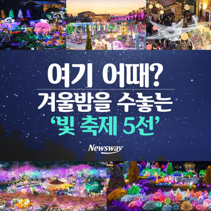여기 어때? 겨울밤을 수놓는 '빛 축제 5선'