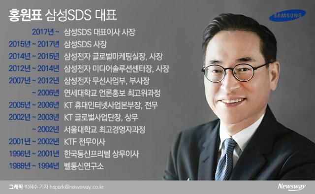 홍원표 삼성SDS 대표, 역대 최고 실적에 웃었다