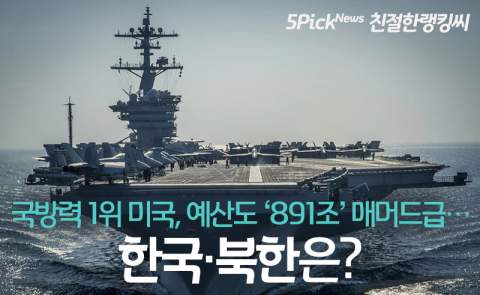 국방력 1위 미국, 예산도 '891조' 매머드급…한국·북한은?