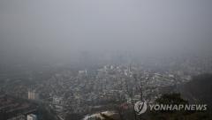 구름 많고 큰 일교차…수도권 '미세먼지 나쁨'