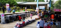 LG전자, 필리핀 화산폭발 '이재민 봉사활동' 나서