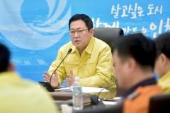 """박남춘 인천시장 """"신종 코로나바이러스 확산 방지에 총력 다할 것"""""""