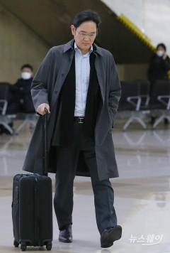 김포국제공항 통해 귀국하는 이재용 삼성전자 부회장