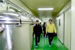 박남춘 인천시장, 손소독제 생산업체 방문...`신종 코로나` 확산 방지 당부