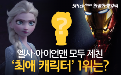 엘사·아이언맨 모두 제친 '최애 캐릭터' 1위는?