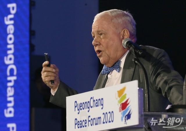 '2020 평창평화포럼', 한반도의 평화 비젼 제시하는 짐 로저스 회장