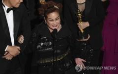 """이미경 CJ 부회장, '기생충' 작품상 수상소감…""""이재현 회장 고맙다"""""""