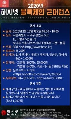 2020 해시넷 콘퍼런스, 루니버스 등 블록체인 업체 참여