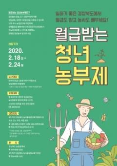 경북도, '월급받는 청년농부제' 참여자 모집
