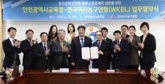 인천시교육청-한국여자농구연맹, 인천형 학교스포츠클럽 활성화 `맞손`