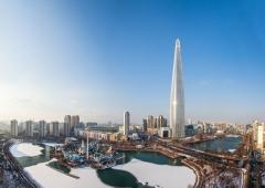 롯데월드타워, '코로나19' 응원 메세지 '희망의 빛' 밝힌다