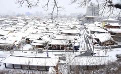 눈덮인 전주한옥마을