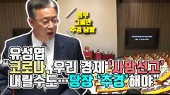 """유성엽 """"코로나, 우리 경제 '사망선고' 내릴수도…당장 '추경'해야"""""""