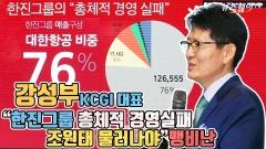 """강성부 KCGI 대표 """"한진그룹 총체적 경영실패…조원태 물러나야"""" 맹비난"""