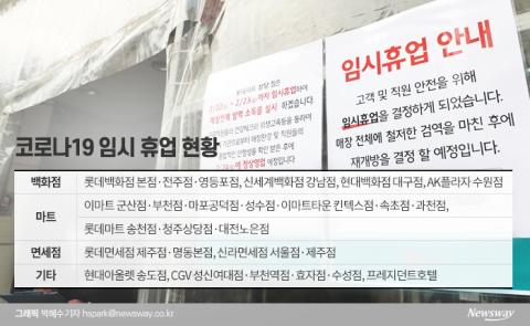 백화점·마트·면세점 도미노 휴점…피해금액 '눈덩이'