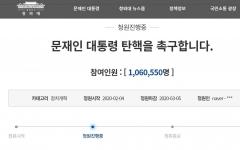 문재인 '탄핵100만'  vs '응원 50만' …청와대 답변할까