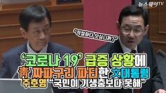 """'코로나19' 급증 상황에 짜파구리 파티한 文대통령…주호영 """"국민이 기생충보다 못해"""""""
