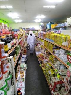 광양시, 코로나19 확산 예방 위해 도심권 영업점 긴급 방역
