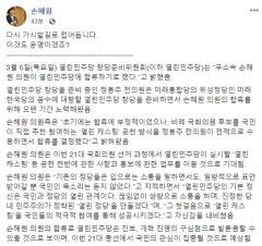 손혜원, 비례정당 '열린민주당'에 합류