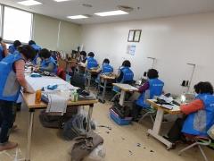 광양시 사회단체들, 코로나19로 부족한 마스크 제작 나서
