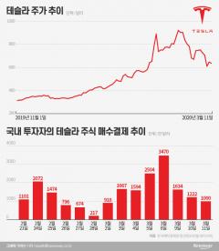 해외주식 직구족, 美폭락에도 '테슬라'는 샀다