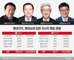"""""""자사주 사주세요"""" 회장 특명···롯데 임원진 총출동"""