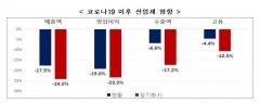 """전경련 """"코로나19 확산에 10개 중 9개 업종 실적 악화 체감"""""""