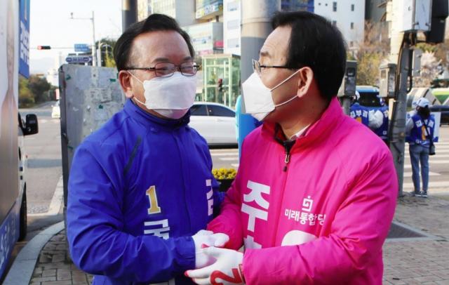 """김부겸 """"대권 도전""""…황교안 """"키 작으면 용지 못들어"""""""