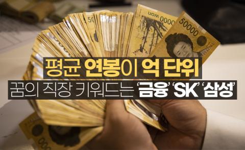 평균 연봉이 억 단위···꿈의 직장 키워드는 '금융' 'SK' '삼성'