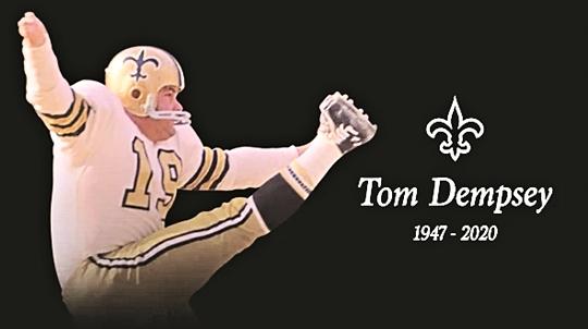 'NFL 전설' 톰 뎀프시, 코로나19 합병증으로 사망…향년 73세