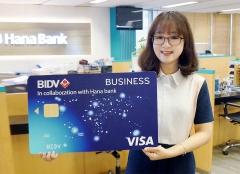 하나은행, '베트남 BIDV 제휴 법인카드' 발급 시작