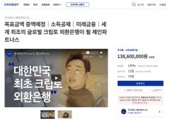 체인파트너스, 크라우드펀딩 1차 목표 초과 달성…21일까지 연장